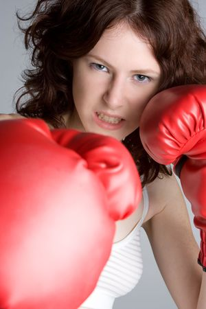 Girl Boxing photo