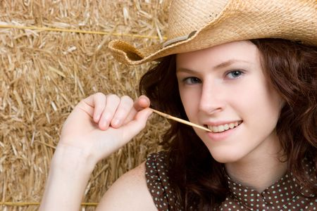 up country: Redhead Cowgirl