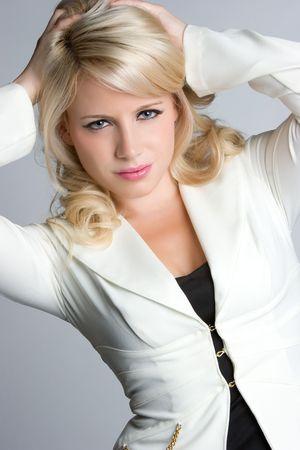 Beautiful Blond Businesswoman