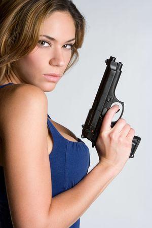 Woman With Handgun Stock Photo - 5226925