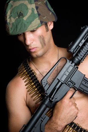 Army Man With Gun