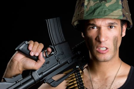 Angry Marine Stock Photo - 5247369