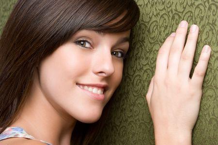 Smiling Brunette Girl Stock Photo - 5273407
