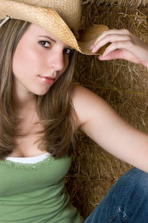 Sexy Country Woman Stock Photo - 5273422