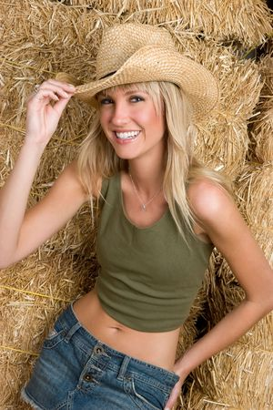 Blond Country Woman Stock Photo - 5273426