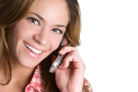 Happy Phone Woman Stock Photo - 5273409