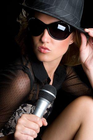 Beautiful Singer Stock Photo - 5273414