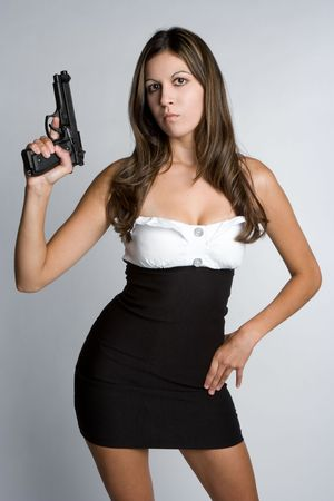 Gun Woman Stock Photo - 5273408
