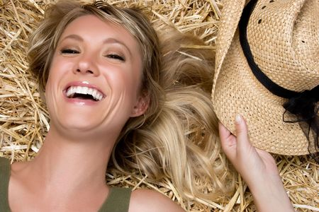 Laughing Country Woman Stock Photo - 5288583