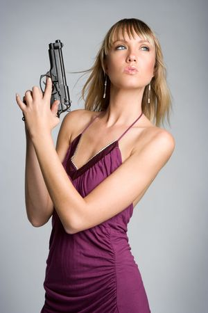 Sexy Gun Woman Stock Photo - 5288577