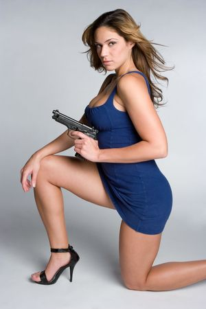 Woman Holding Weapon Stock Photo - 5288585
