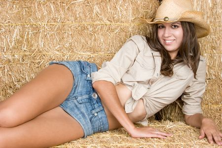Cute Country Girl Stock Photo - 5294066