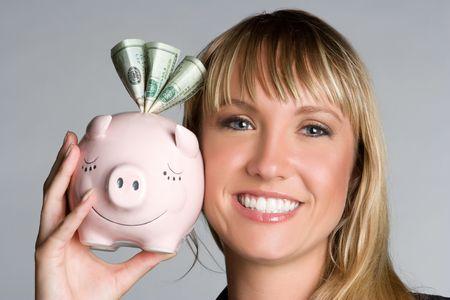 Money Business Woman Banque d'images - 5294059