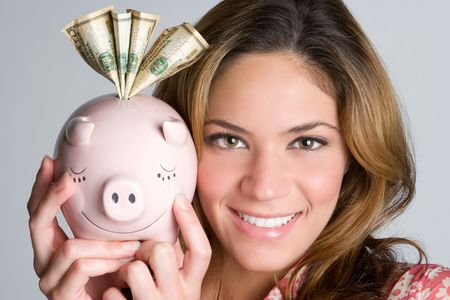 Piggybank Woman Stock Photo - 5343387