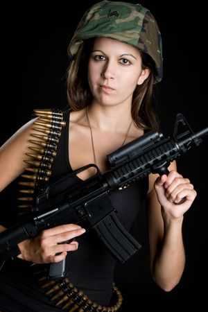 army face: Military Woman