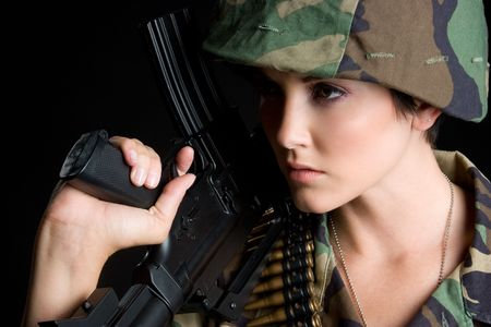 Army Girl Stock Photo - 5343435