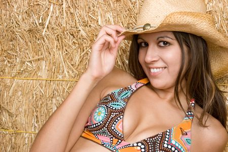 Happy Cowgirl Smiling photo