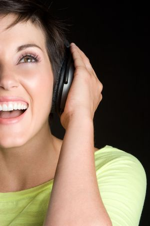 Happy Music Woman Stock Photo - 5343448