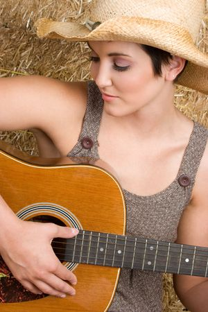 Country Guitar Woman Stock Photo - 5343450