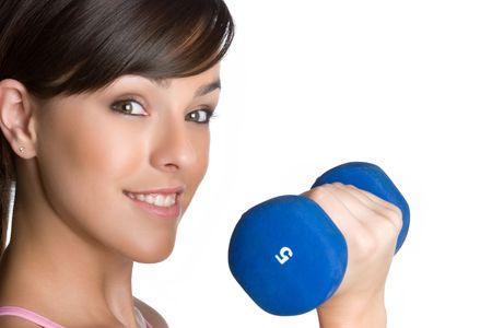 Teen Lifting Weights photo