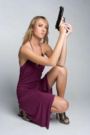 Woman With Gun Stock Photo - 5372612
