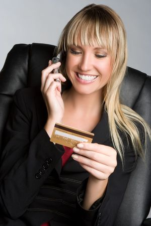 Credit Card Phone Woman Stock Photo - 5372599
