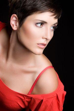 hair short: Posando Modelo