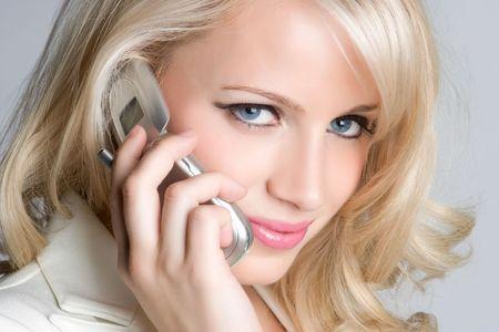 Phone Woman Stock Photo - 5372625