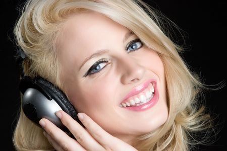 Headphones Woman Stock Photo - 5372627