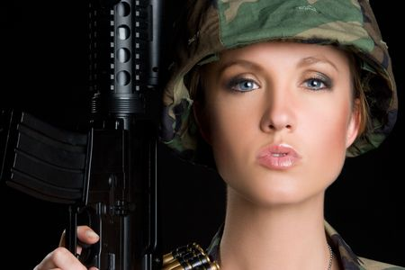 camouflage woman: Sexy Military Woman