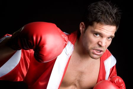 Young Man Boxing Stock Photo - 5383947
