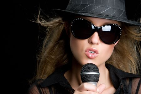 Young Singing Girl Stock Photo - 5494592