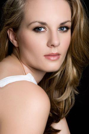 blonde close up: Closeup of Pretty Woman