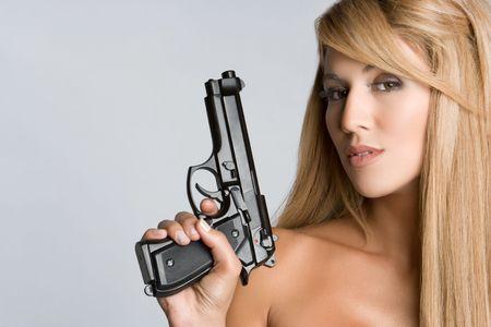 Latin Gun Woman Stock Photo - 5501380