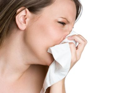 Woman Blowing Nose Stock Photo - 5410742