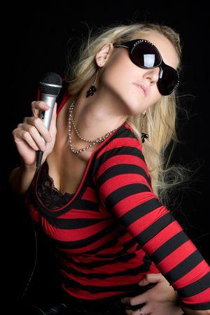 Pop Star Girl Stock Photo - 5501391