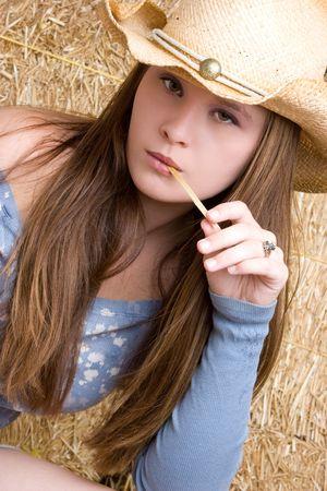 Teenage Cowgirl Фото со стока - 5501415