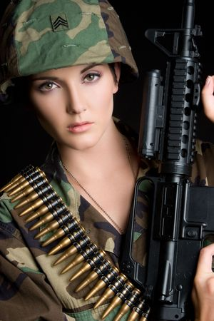 Young Military Woman Stock Photo - 5501430