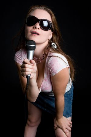 Music Girl Singing photo