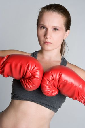 Young Female Boxer photo