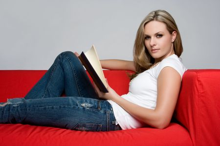 Girl Reading Book Stock Photo - 5501473
