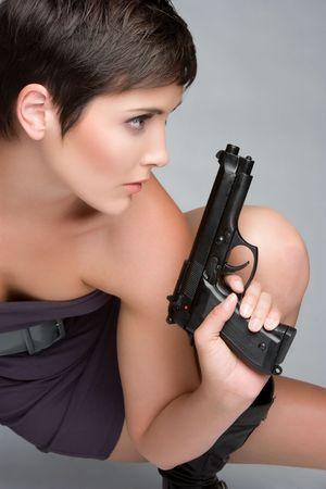 Sexy Gun Woman Stock Photo - 5501464