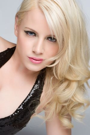 Beautiful blonde Frau Standard-Bild - 5518758