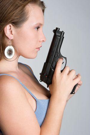 Gun Woman Stock Photo - 5501496