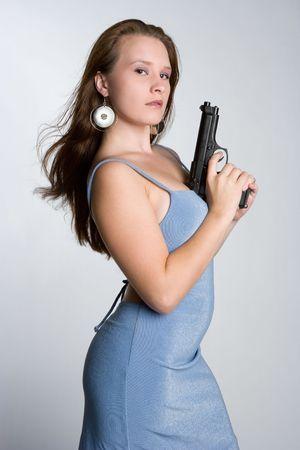 Sexy Gun Girl photo