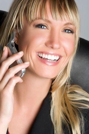 Smiling Phone Woman Stock Photo - 5518766