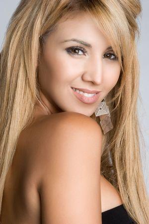 blonde hispanic: Mexican Woman Smiling