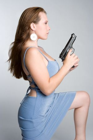 Gun Girl Stock Photo - 5526189