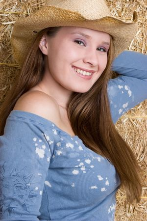 Smiling Country Girl Stock Photo - 5526191