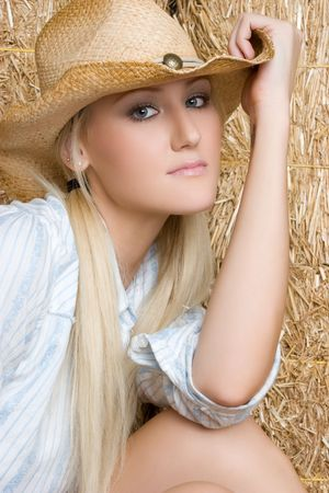 Blond Country Woman Stock Photo - 5524558